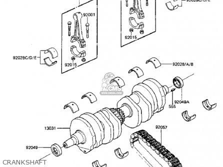 Kawasaki 1984 Zx750-a2 Gpz 750 parts list partsmanual