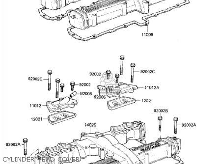 Kawasaki 1984 Zx750-e1 Gpz 750 Turbo parts list