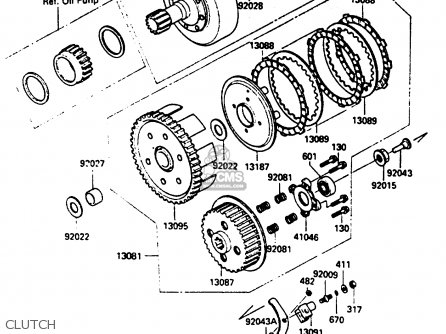 Kawasaki 1985 A1: Klf185 parts list partsmanual partsfiche