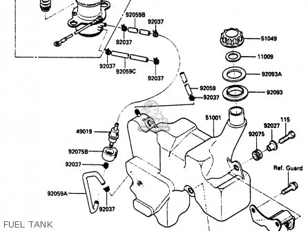 Kawasaki 1985 A1: Klf185 parts list partsmanual partsfiche