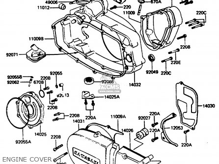 Kawasaki 1985 A12: Ke125 parts list partsmanual partsfiche