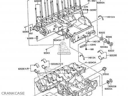 Kawasaki 1985 A2: Zg1300 parts list partsmanual partsfiche