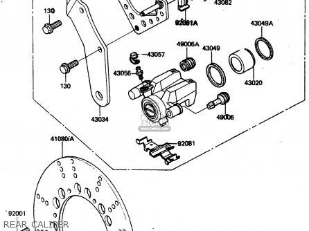 Kawasaki 1985 A3: Zn1300 parts list partsmanual partsfiche