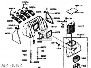 Kawasaki 1985 A3: Zx1100 parts list partsmanual partsfiche