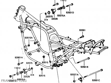 Kawasaki 1985 A3: Zx750 parts list partsmanual partsfiche
