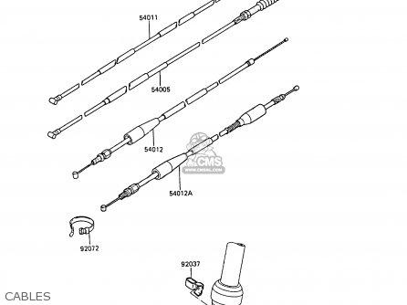 Kawasaki 1985 B1: Kx60 parts list partsmanual partsfiche