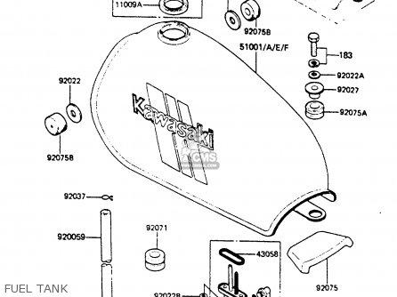 Kawasaki 1985 B4: Ke100 parts list partsmanual partsfiche