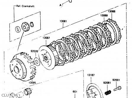 Kawasaki 1985 C2: Zx400 parts list partsmanual partsfiche