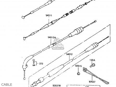 Kawasaki 1985 C3: Kdx250 parts list partsmanual partsfiche