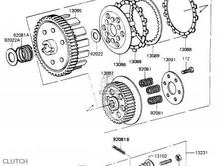 Kawasaki 1985 G6: Kh100 parts list partsmanual partsfiche