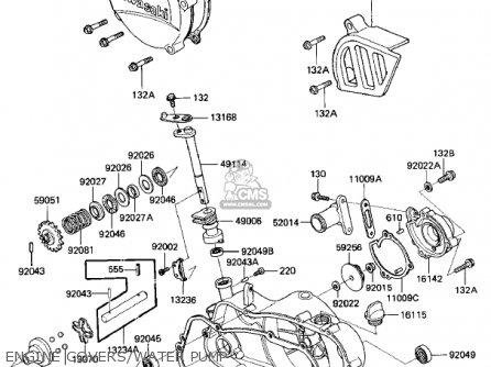 Kawasaki 1985 Kx125-d1 Kx125 parts list partsmanual partsfiche