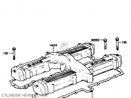 Kawasaki 1985 P4: Z750 parts list partsmanual partsfiche