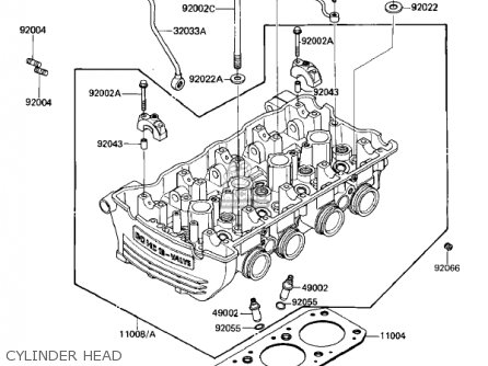 Kawasaki 1985 Zl900-a1 Eliminator parts list partsmanual