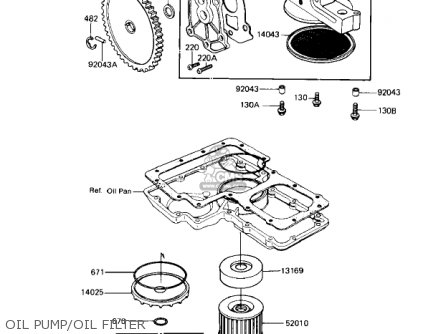 Kawasaki 1985 Zn1100-b2 Ltd Shaft parts list partsmanual