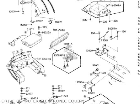 Kawasaki 1985 Zn1300-a3 Voyager parts list partsmanual