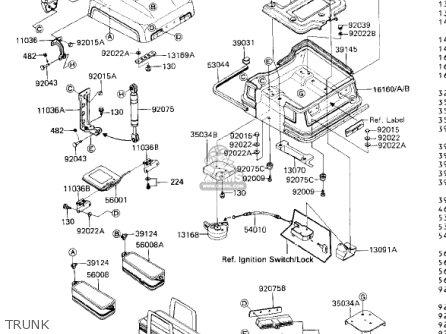 Kawasaki 1985 Zn1300-a3 Voyager parts list partsmanual