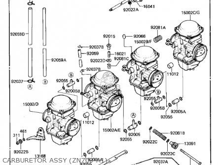 Kawasaki 1985 Zn700-a2 Ltd Shaft parts list partsmanual