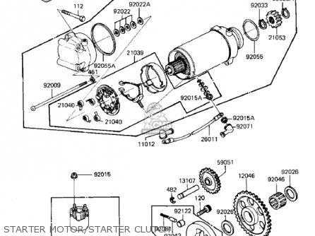 Kawasaki 1985 Zn700-a2 Ltd Shaft parts list partsmanual