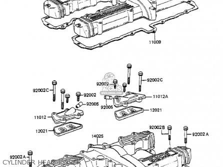 Kawasaki 1985 Zx750-a3 Gpz 750 parts list partsmanual