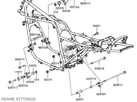 Kawasaki 1985 Zx750-e2 Gpz 750 Turbo parts list