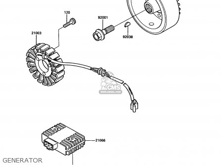 Kawasaki 1986 A2: Vn750 parts list partsmanual partsfiche