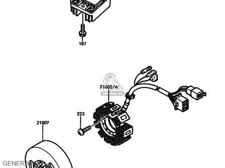 Kawasaki 1986 A4: Ar125 parts list partsmanual partsfiche