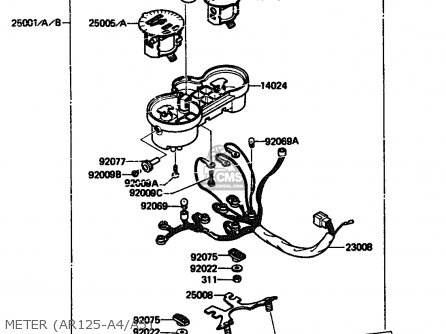 Kawasaki 1986 A4: Ar125 parts list partsmanual partsfiche