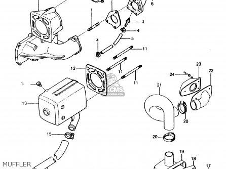 Kawasaki 1986 A5: Js550 parts list partsmanual partsfiche