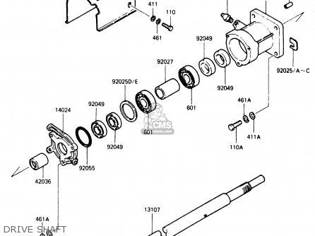 Kawasaki 1986 B1: Js300 parts list partsmanual partsfiche