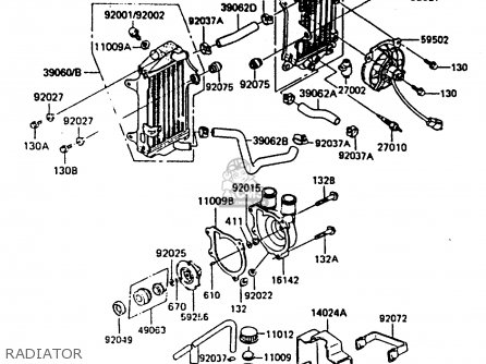Kawasaki 1986 B2: Kl600 parts list partsmanual partsfiche