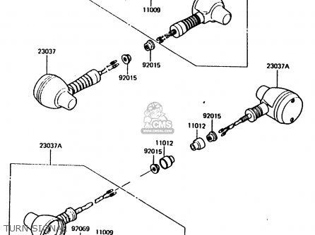 Kawasaki 1986 B2: Kl600 parts list partsmanual partsfiche
