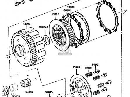 Kawasaki 1986 B2: Kx500 parts list partsmanual partsfiche