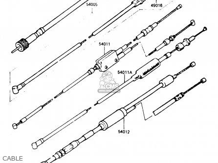 Kawasaki 1986 B5: Ke100 parts list partsmanual partsfiche