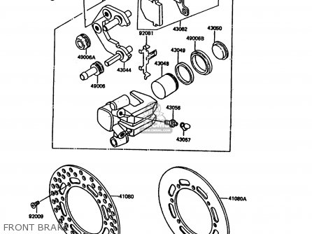 Kawasaki 1986 C1: Kdx200 parts list partsmanual partsfiche