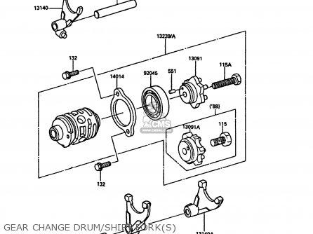 Kawasaki 1986 C1: Kdx200 parts list partsmanual partsfiche