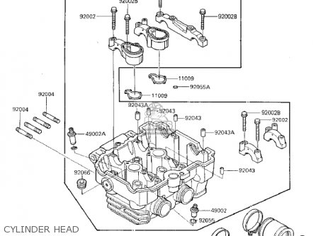 Kawasaki 1986 Ex250-e1 Ninja 250r parts list partsmanual