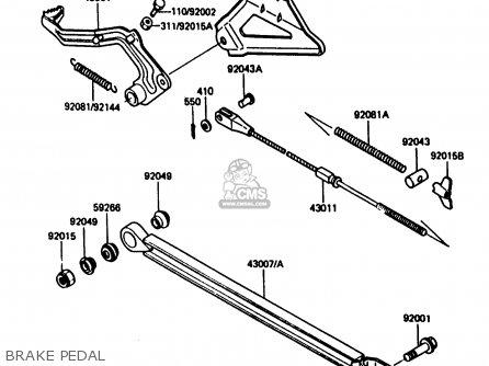 Kawasaki 1986 G1: Kx80 parts list partsmanual partsfiche