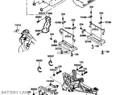 Kawasaki 1986 G3: Zx750 parts list partsmanual partsfiche