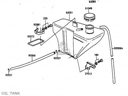 Kawasaki 1986 G7: Kh100 parts list partsmanual partsfiche
