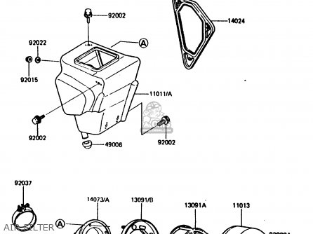 Kawasaki 1986 H1: Kx80 parts list partsmanual partsfiche