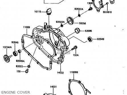Kawasaki 1986 H1: Kx80 parts list partsmanual partsfiche