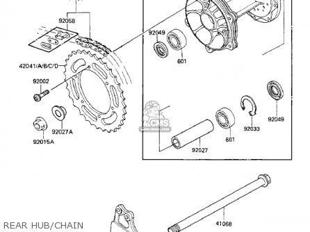 Kawasaki 1986 Kx125-e1 Kx125 parts list partsmanual partsfiche