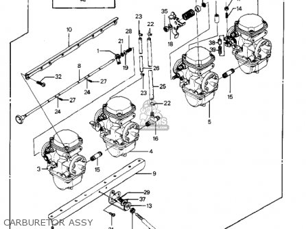 Kawasaki 1986 Kz1000-p5 Police 1000 parts list partsmanual