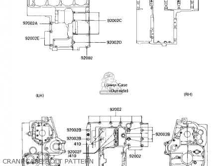 Kawasaki 1986 Zl900-a2 Eliminator parts list partsmanual