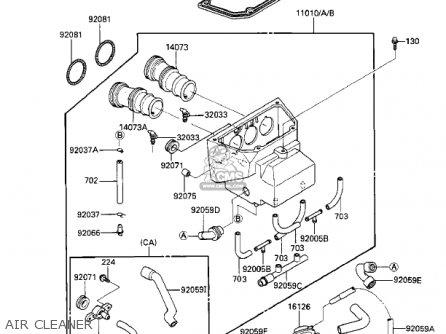 Kawasaki 1986 Zx1000-a1 Ninja 1000r parts list partsmanual