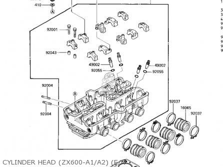 Kawasaki 1986 Zx600-a2 Ninja 600 parts list partsmanual