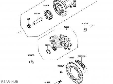 Kawasaki 1987 A1: Kl650 (north America) parts list