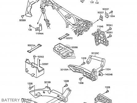 Kawasaki 1987 A1: Zl1000 parts list partsmanual partsfiche