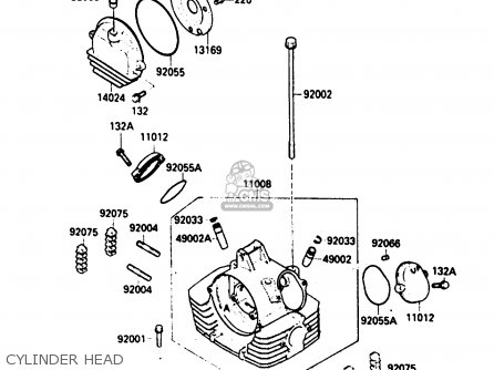 Kawasaki 1987 A2: Klf300 parts list partsmanual partsfiche