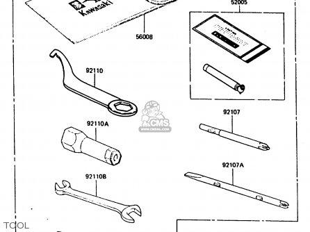 Kawasaki 1987 A2: Klf300 parts list partsmanual partsfiche